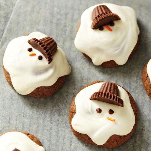 Cupcakes chocolat blanc et au lait : Bonhommes de neige