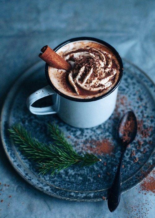 Chocolat à la cannelle / Chocolat chaud de Noel