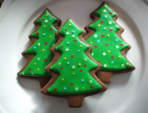 Biscuits en forme de sapin NOEL