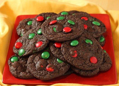 Cookie au chocolat de Noel