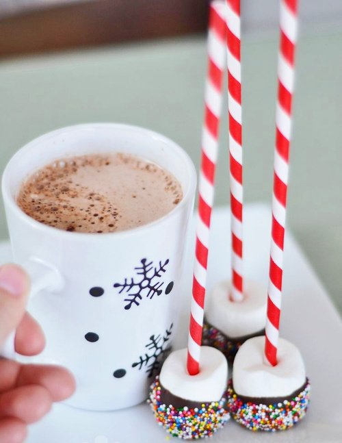Chocolat chaud et sucre d'orge