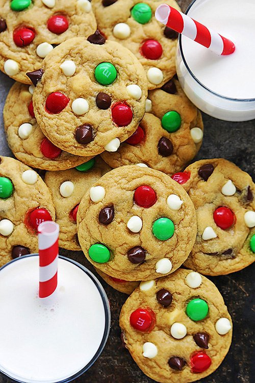 Cookies et Smarties for Christmas