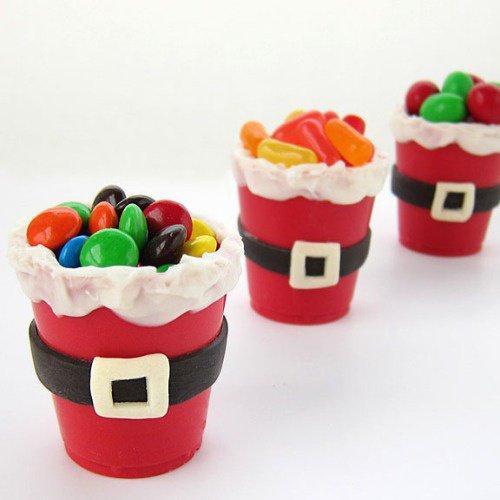 Cupcakes pere noel et bonbons