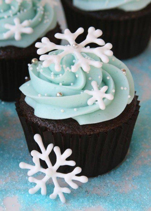 Cupcake flocons de neige