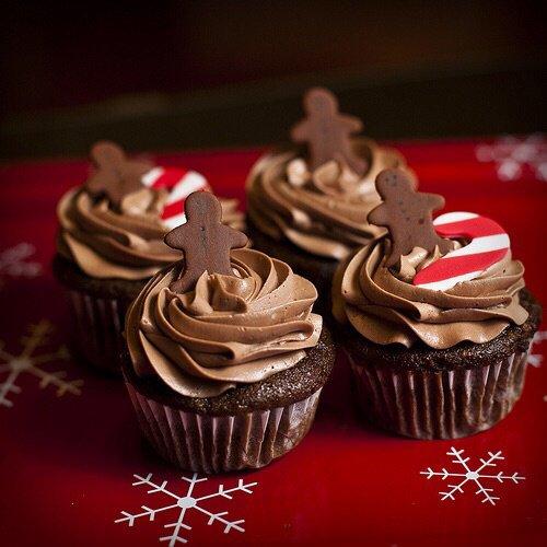 Cupcakes chocolat pain d'épices