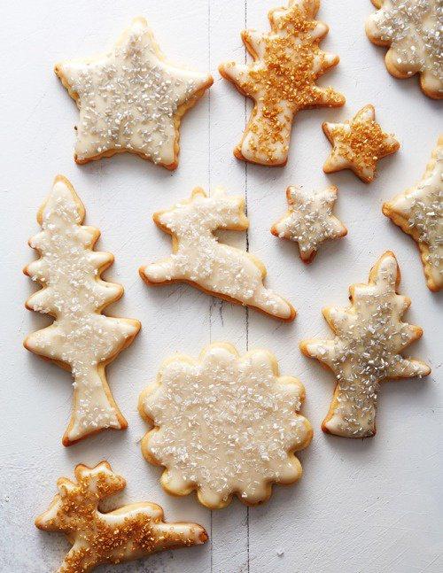 Biscuits forme sapin de noel