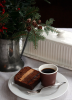 Gâteau et lait de Noel