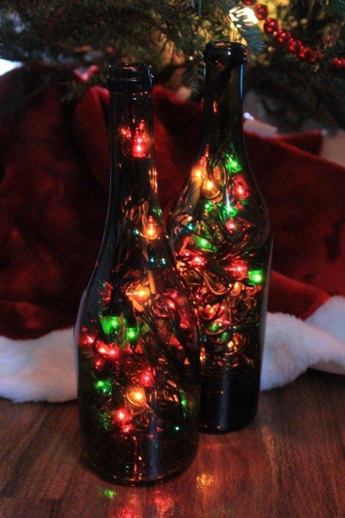Guirlandes dans bouteilles pour Noel