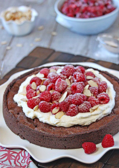 Pancake chocolat framboise