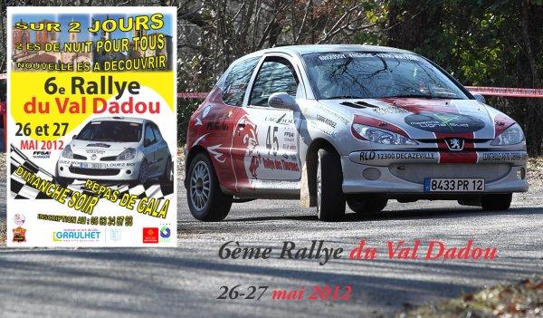 Présentation rallye du Val Dadou 2012