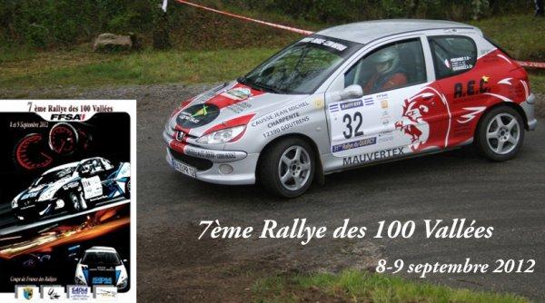 Présentation rallye des 100 Vallées 2012