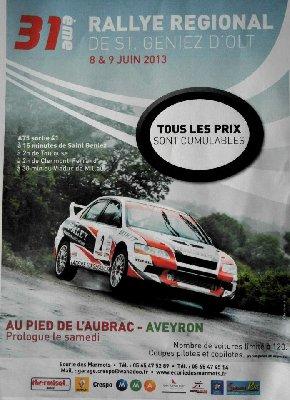 Présentation Rallye de Saint-Geniez 2013