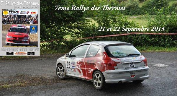 Présentation Rallye des Thermes 2013