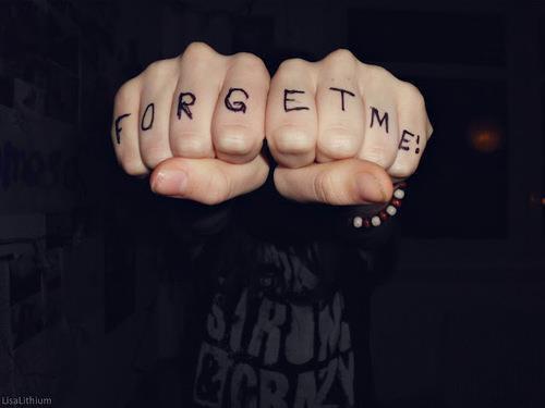 >' je t'oublirais, je te le promet.