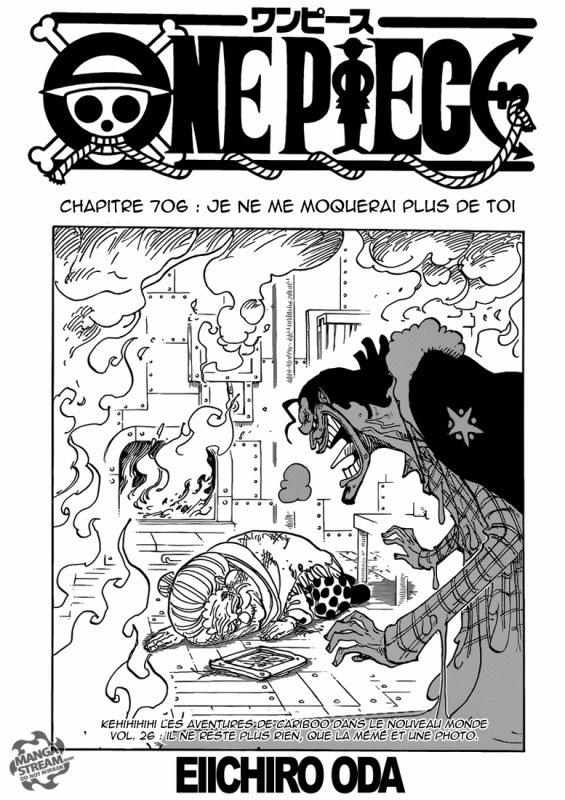 One Piece chapitre 706.