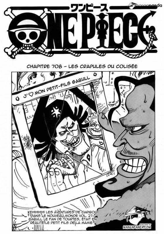 One Piece chapitre 708.