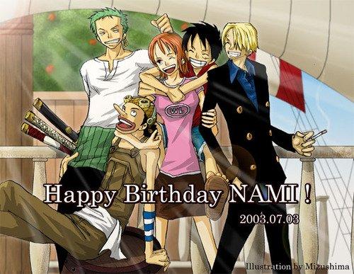 Joyeux anniversaire Nami.