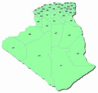 Carte Geographique De Lalgerie.Carte Geographique Des Wilayas L Algerie D Aghiles