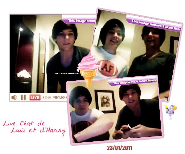 23 Janvier 2011 ϟ LOUIS ON TWITCAM ! Louis & Harry ont fais un Twitcam sur Twitter ( une vidéo online. ) Les One Direction partent demain en Californie pour des.. Vacances !