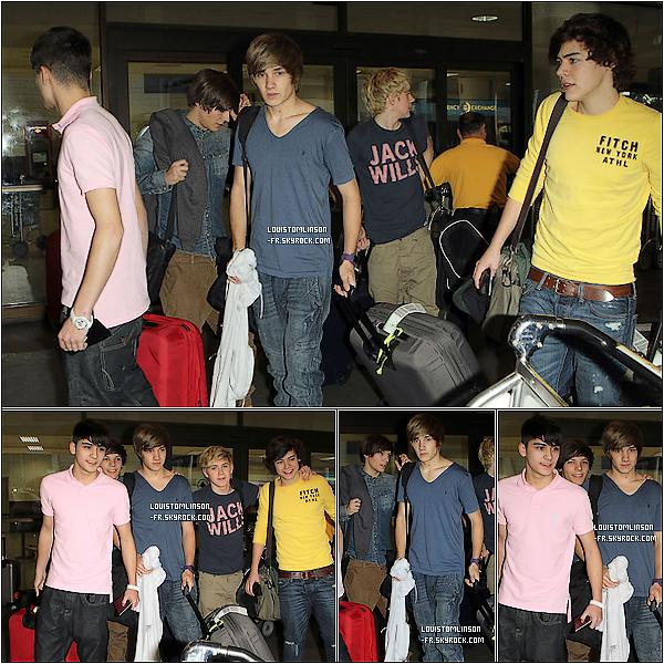 25 Janvier 2011 ϟ LES OD A LAX !  Les 5 garçons sont à l'aéroport de LAX. Ils vont aller passer quelques  jours de vacances chez Robbie Williams ! #Lachance