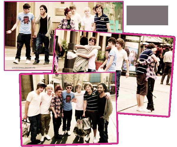 27 Janvier 2011 ϟ LES OD A LAX !  Les 5 garçons et Cher Lloyd   se balandent dans les rues de Los Angeles ! #Magnifiques