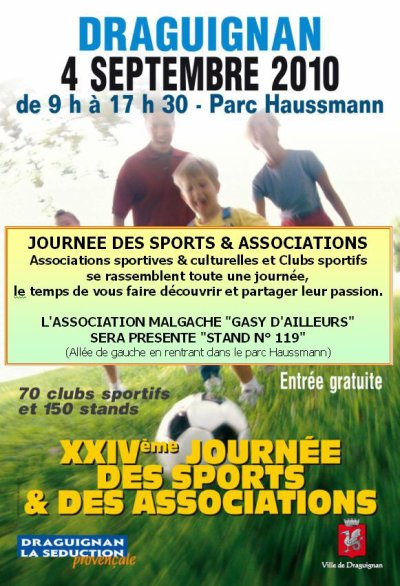 JOURNEE DES SPORTS & DES ASSOCIATIONS 2010 à DRAGUIGNAN