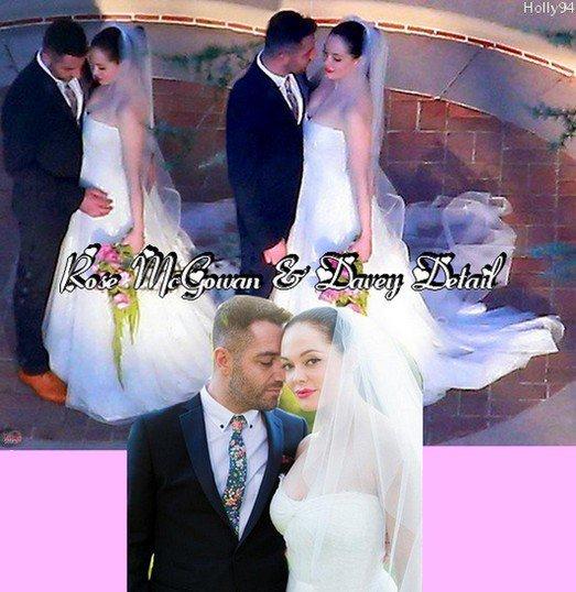 Rose McGowan a dit Oui à Davey Detail le 12 octobre 2013. Ils sont magnifique ! Heureux mariage à eux.
