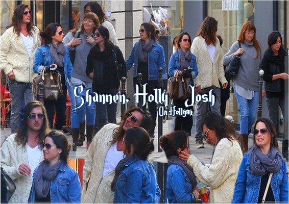 Holly, Shannen et Josh à Paris le 13 Mars 2014