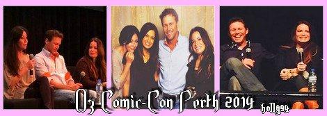 Holly, Shannen, Brian et Josh en Australie pour le Oz Comic-Con 2014.