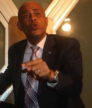 Haiti :  Martelly menace d'être cynique