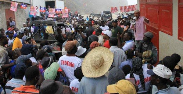 Martelly : «même si je suis un Chinois, le peuple m'aime parce que je travaille pour lui».