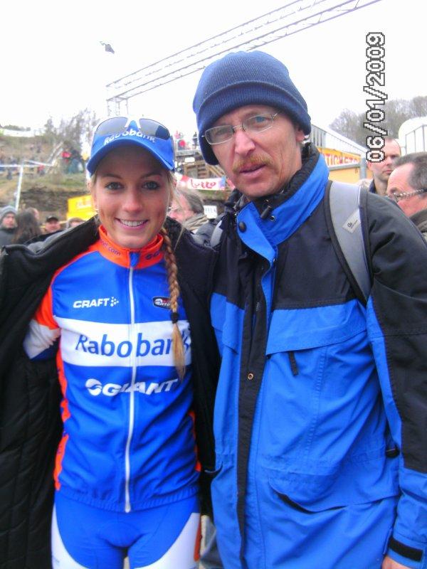 Avec Pauline Ferrand-Prevot.