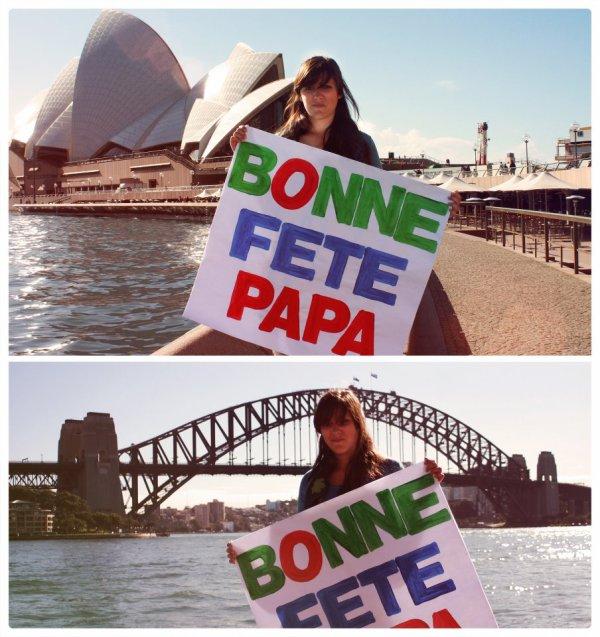 Merci à ma Grande pour ce joli cadeau venu tout droit d'Australie!