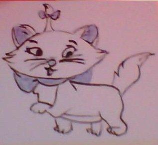 dessin de mari mon dessin de marie(aristochat)