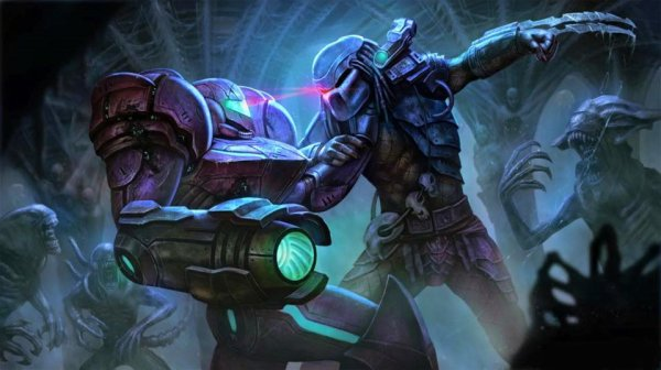 Samus Aran VS Predator