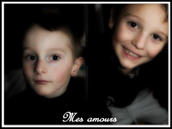 Mes amours de fils ♥ ( respectivement 5 ans et 8 ans )