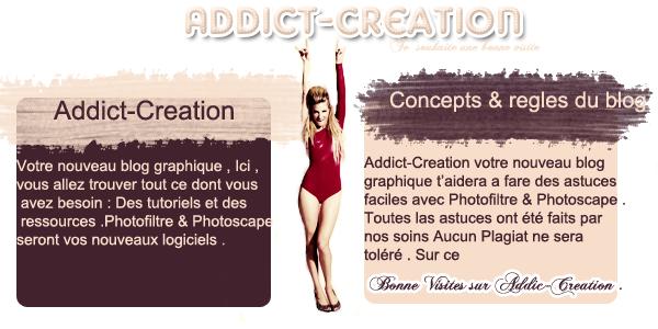 Bienvenue sur Addict-Création,en vous souhaitant une bonne visite ❤