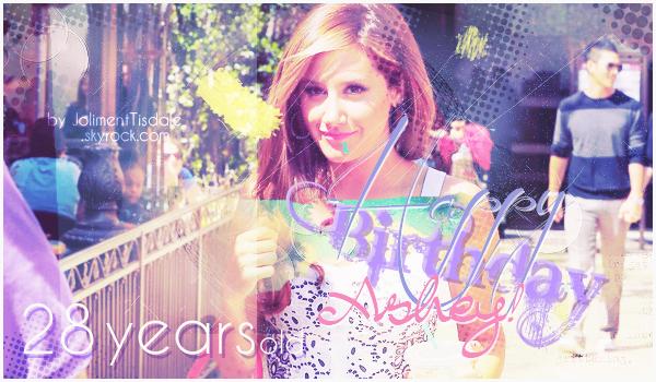 Le 2 Juillet 2013: Ashley Tisdale fête ses 28 ans !