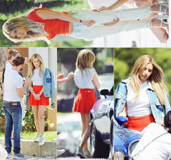 Le 22 Avril: Ashley faisant un shooting photo à Los Angeles, en Californie.