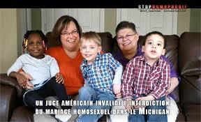 USA: l'interdiction du mariage homosexuel invalidée dans le Michigan