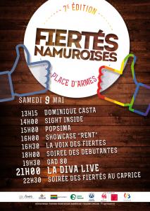 Les Fiertés Namuroises, c'est le 9 mai prochain !