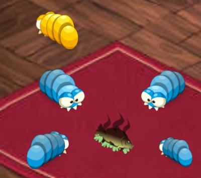 Les larves mange du poissons
