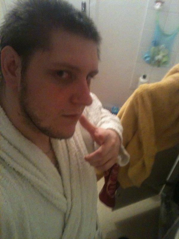 sorti de la douche
