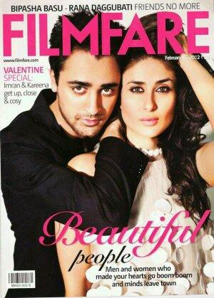 Kareena et Imran en couverture de Filmfare