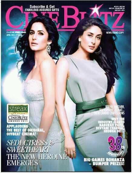 Kareena Kapoor et Katrina Kaif en couverture d'un magazine