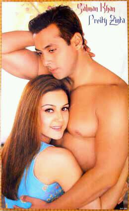 Salman Khan dans Ishkq In Paris avec Preity Zinta