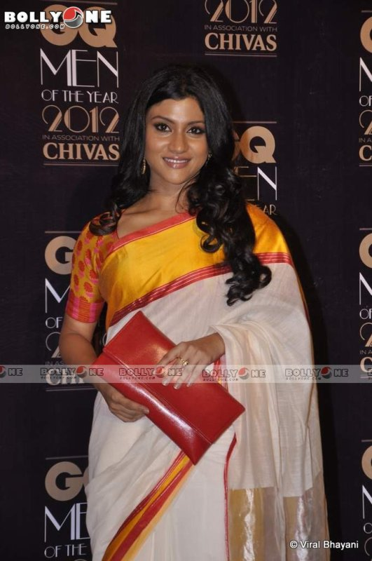 Konkona Sen in Sari At GQ Men Of The Year Awards 2012