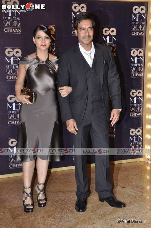 Ajay Devgan and Kajol at GQ Men Of The Year Awards 2012
