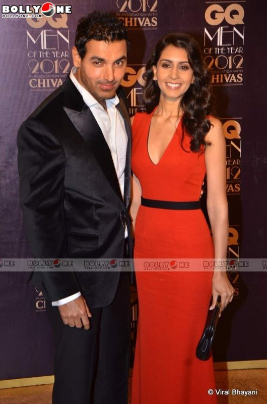 John Abraham and his Girl Friend Priya Runchal at GQ Men Of The Year Awards 2012