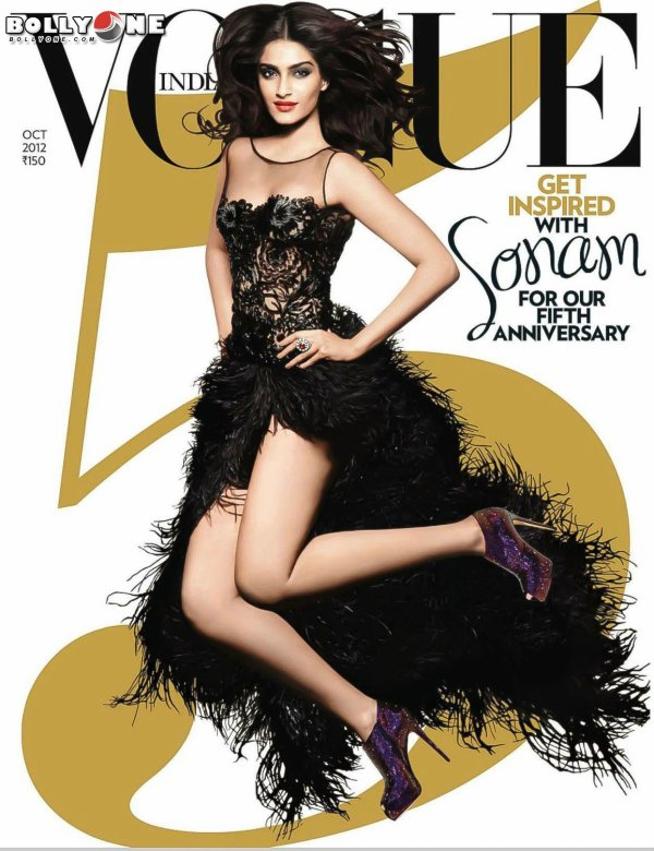 Sonam Kapoor Vogue Magazine October 2012 HQ Pictures